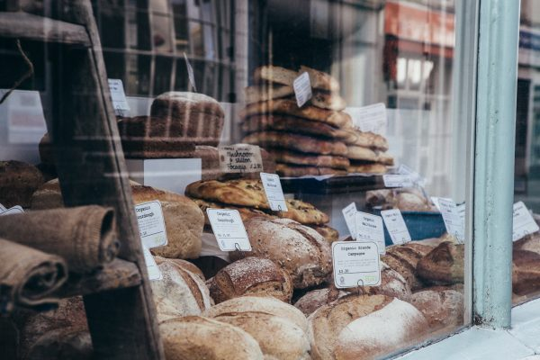 cakes, baker tom, bread, window, falmouth, 2017, display, artisan bakery