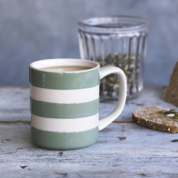 Cornishware Green Mug