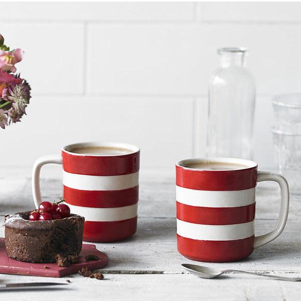 Cornishware Red Mug