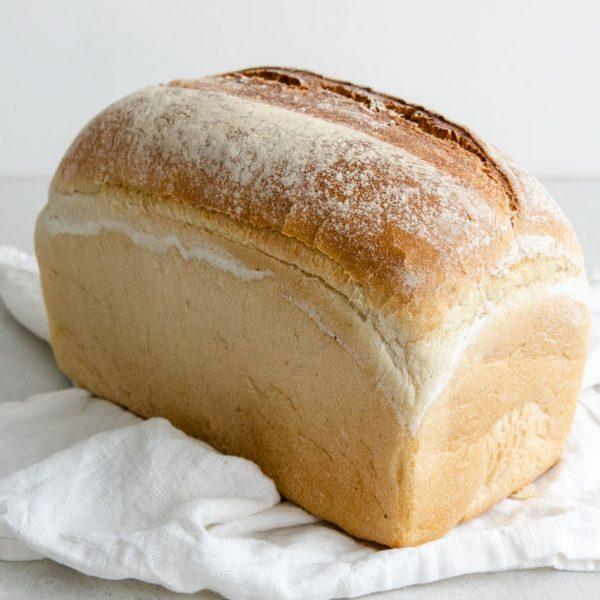 White Organic Tin Loaf