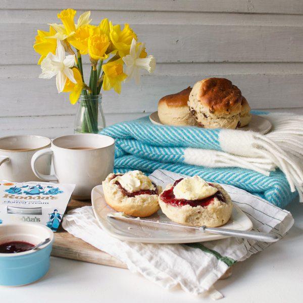 Cream Tea Blanket Gift Set